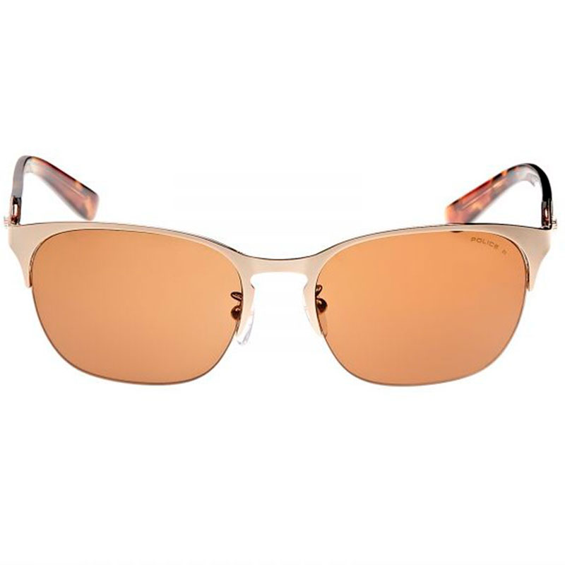 OCCHIALI SOLE GOLD-BROWN RIMLESS POLICE